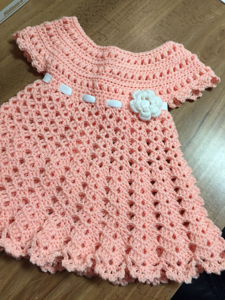 Inspirational This Pin Was Discovered by Rob Crochet Dress for Baby Of Amazing 42 Photos Crochet Dress for Baby