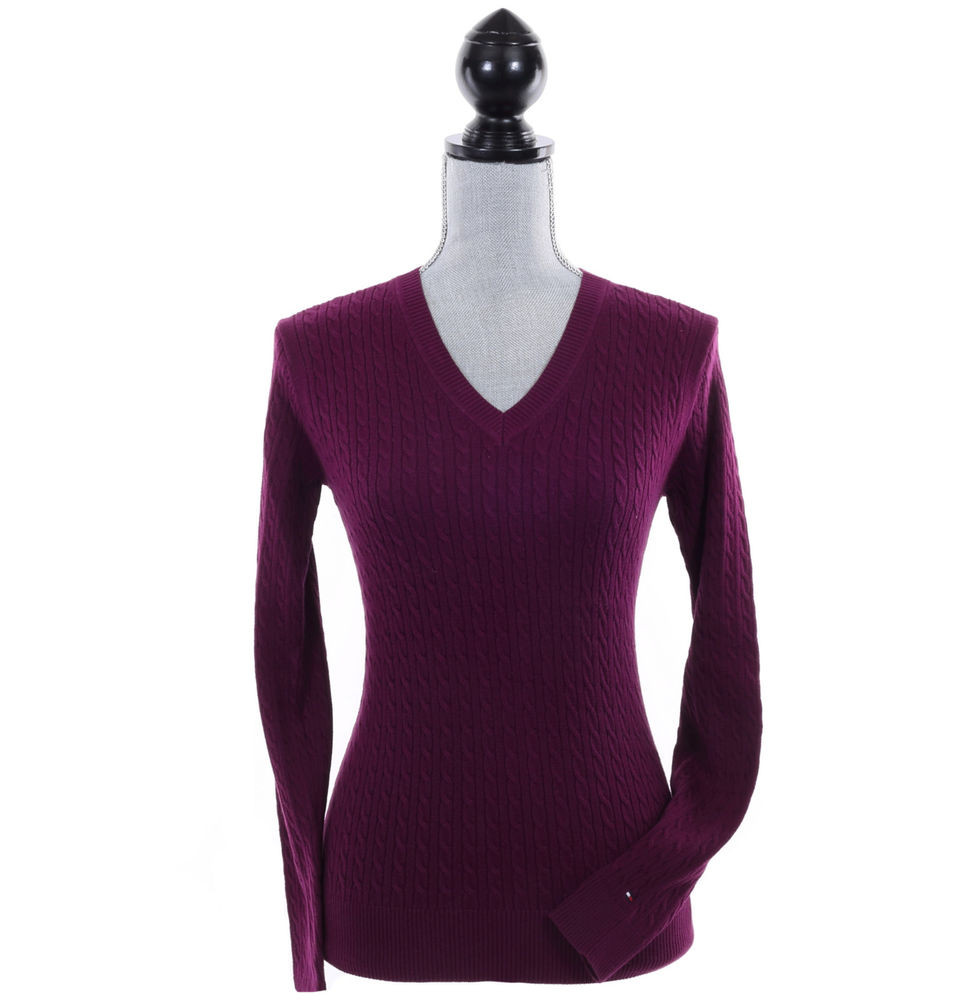Inspirational tommy Hilfiger Women Long Sleeve Pullover V Neck Cable V Neck Cable Knit Sweater Of Great 44 Pictures V Neck Cable Knit Sweater