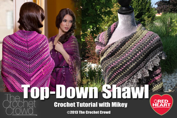 Inspirational top Shawl Crochet Pattern & Video Tutorial Mikey Crochet Of New 49 Images Mikey Crochet