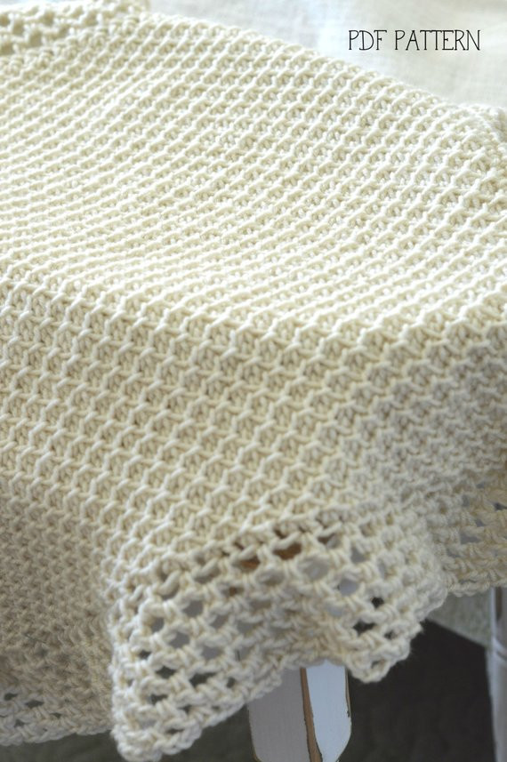 Inspirational Tunisian Crochet Blanket Pattern Baby Afghan Pattern Vintage Tunisian Crochet Blanket Of Attractive 49 Models Tunisian Crochet Blanket
