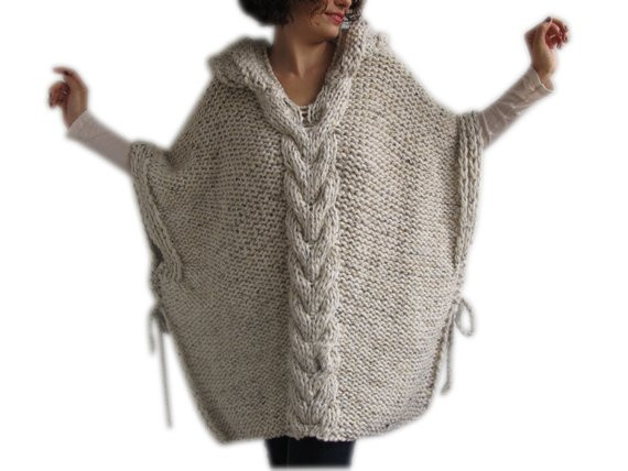 Inspirational Tweed Beige Hand Knitted Poncho with Hood Crochet Poncho with Hood Of Fresh 40 Pictures Crochet Poncho with Hood