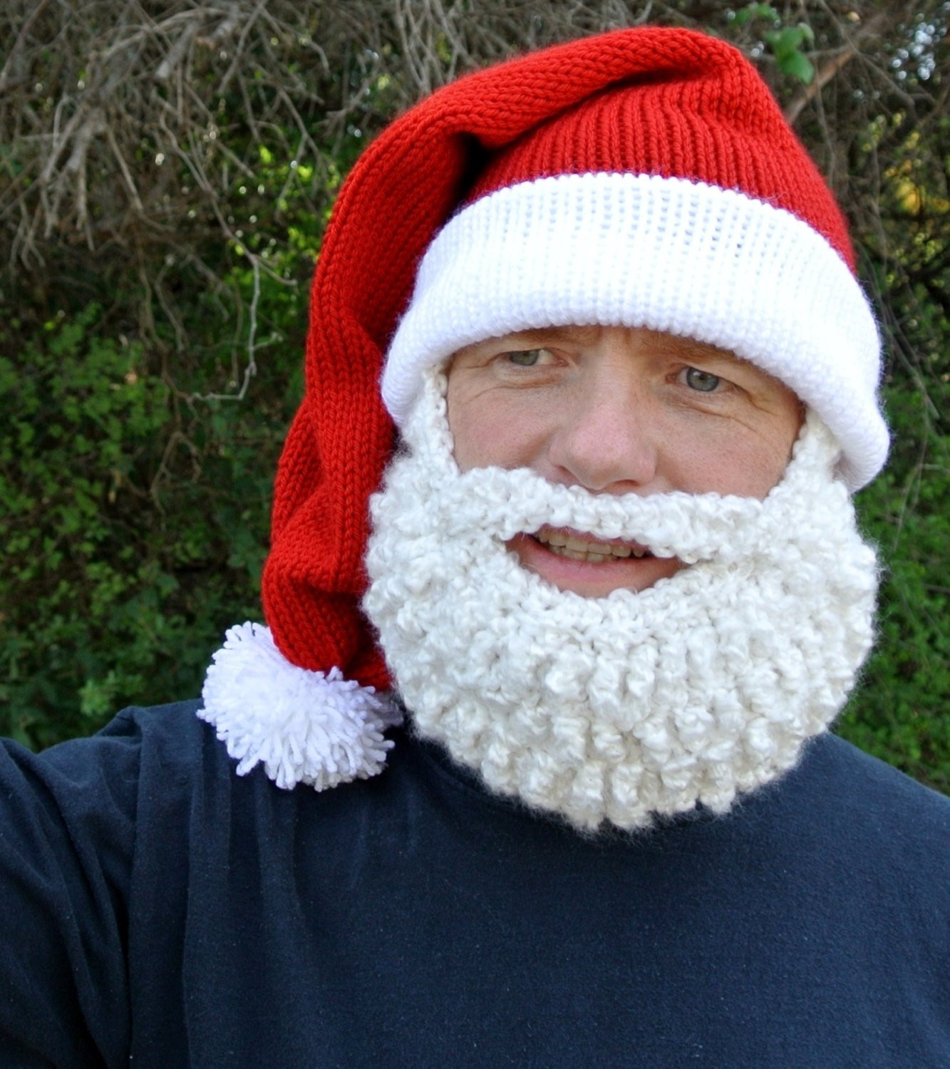Inspirational Ultimate Santa Beard Hat Costume by Simplycollectible On Etsy Santa Hat Pattern Of Unique Musings Of A Knit A Holic From Wales Knitting Pattern Santa Hat Pattern