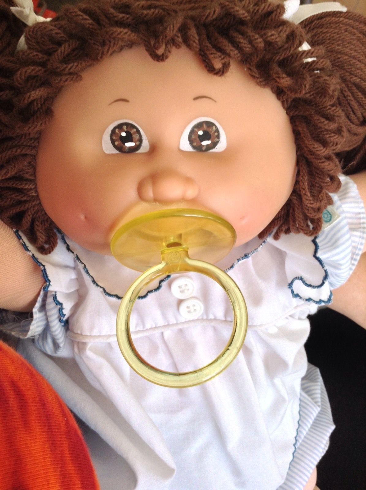 Vintage Cabbage Patch Kid Girl Doll Pacifier Tri Ang