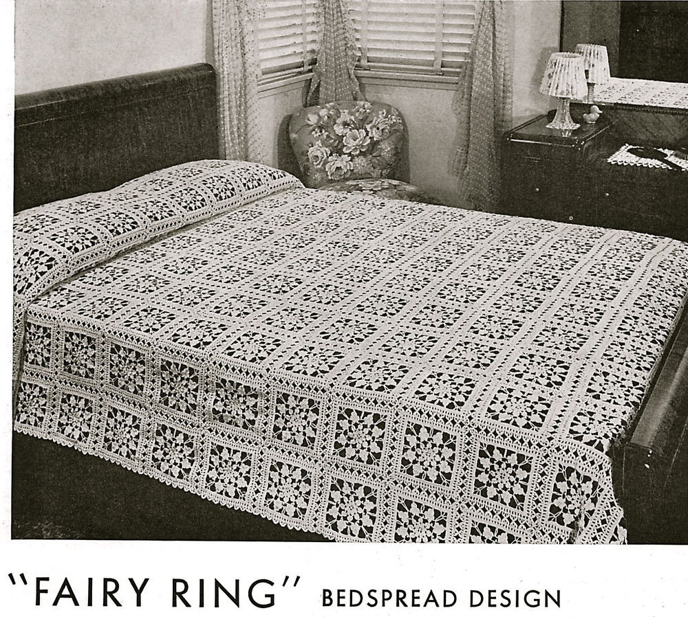 Inspirational Vintage Crochet Pattern Pretty Lace Bedspread Made From Crochet Bedding Of Attractive 40 Ideas Crochet Bedding