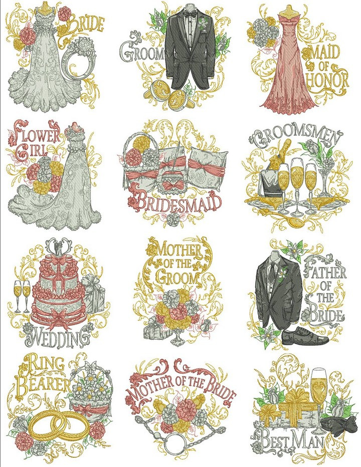Inspirational Wedding Party Wedding Embroidery Designs Of Wonderful 48 Photos Wedding Embroidery Designs