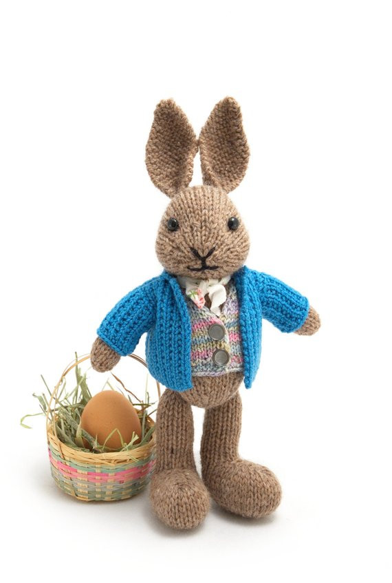 well dressed bunny knitting pattern ref= 2
