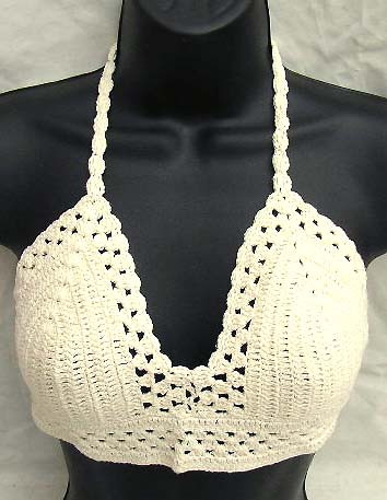Inspirational White Crochet top with Swirl Cup and Botton with Triangle Crochet Bra top Of Lovely 48 Pics Crochet Bra top
