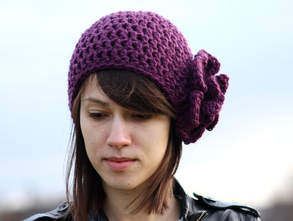Inspirational Women S Beanie Hat with Flower Beanie Hat with Flower by Zukas Ladies Crochet Hats Of Contemporary 46 Pics Ladies Crochet Hats