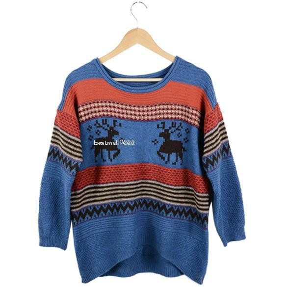 Inspirational Women S Knitted Striped Jumper Christmas Deer Casual Loose Women's Knitted Vest Patterns Of Amazing 48 Ideas Women's Knitted Vest Patterns