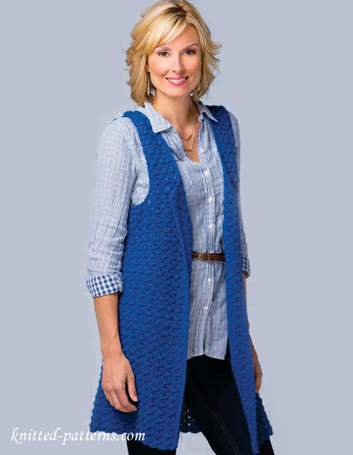 Inspirational Women S Sleeveless Jacket Crochet Pattern Free Women's Knitted Vest Patterns Of Amazing 48 Ideas Women's Knitted Vest Patterns