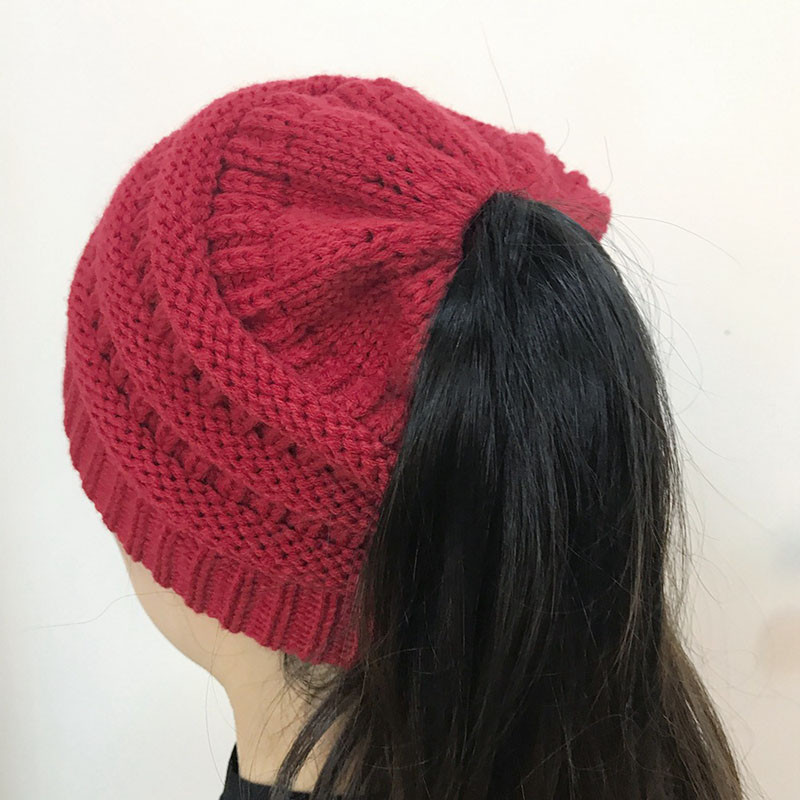 Inspirational Women Stretch Knitted Beanie Hat Messy High Bun Ponytail Beanie with Bun Hole Of Amazing 46 Photos Beanie with Bun Hole