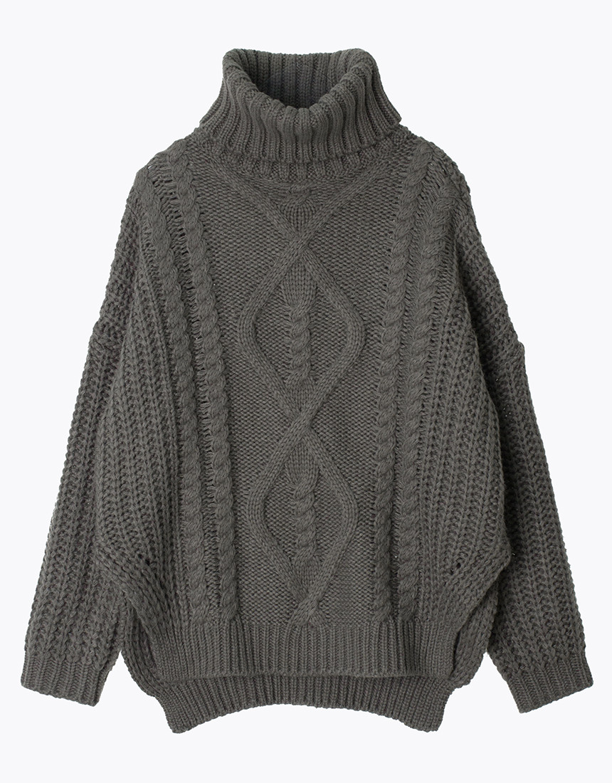Women'S Chunky Cable Knit Sweater Baggage Clothing
