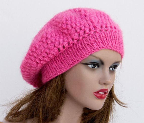 Inspirational Womens Knit Hats Pink Crochet Hat Knitted Hat Knit Beret Pink Crochet Hat Of Great 43 Models Pink Crochet Hat