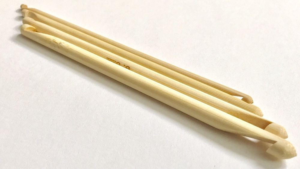 Brand New Double Ended Tunisian Bamboo Crochet Hook 4