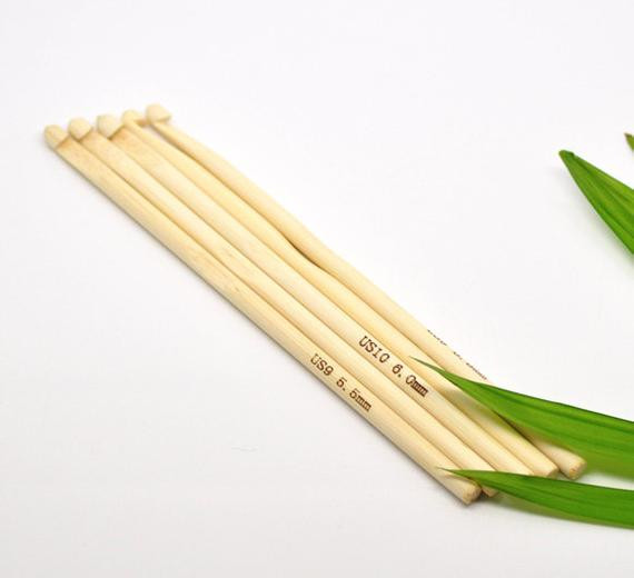 Crochet Hook Bamboo 6mm J 10 UK size 4 Hook for