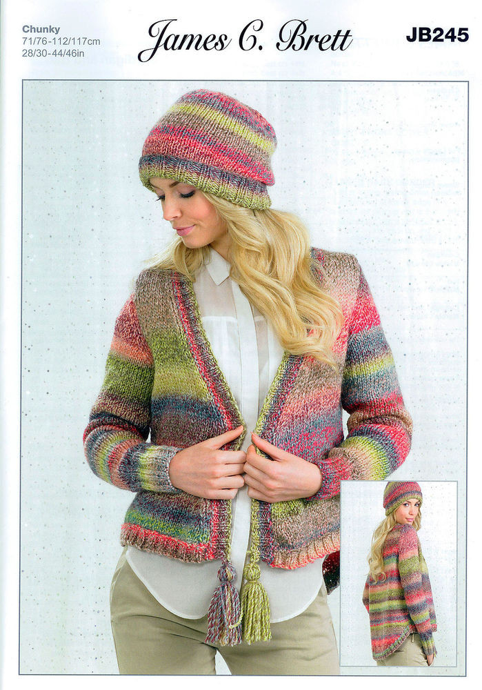 James C Brett Marble Chunky Unique La S Cardigan and Hat Jb245 Knitting Pattern In James Of Adorable 40 Models James C Brett Marble Chunky