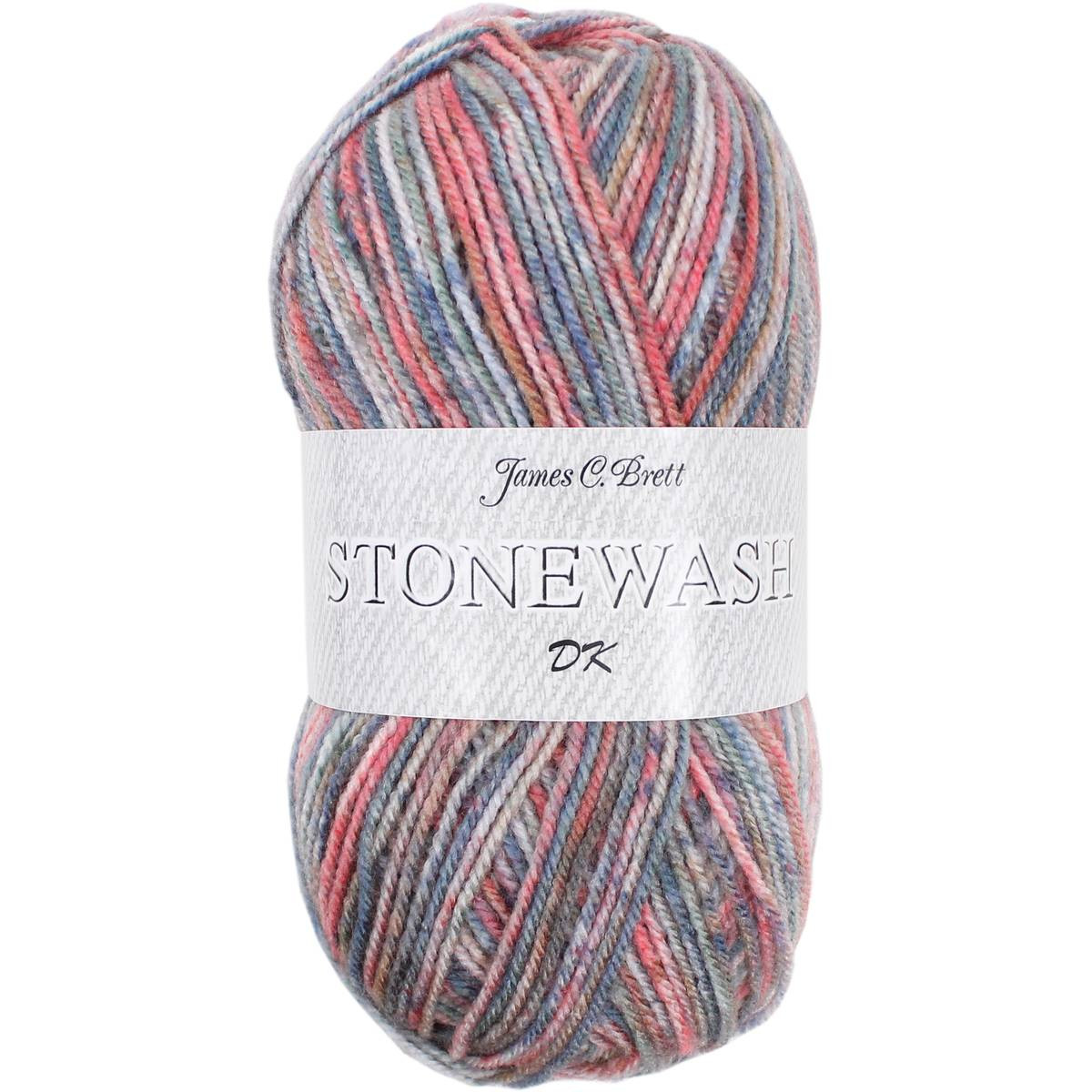 James C Brett Denim And Red Stonewash Dk Yarn 100G
