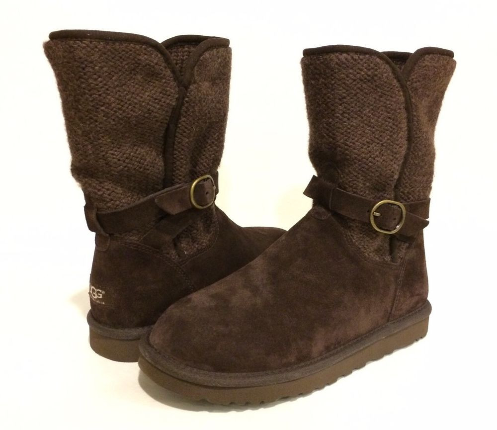Knit Boots Lovely Ugg Australia Nyla Boots Wool Knit Suede Brown Us 8 Eur Of Luxury 48 Photos Knit Boots