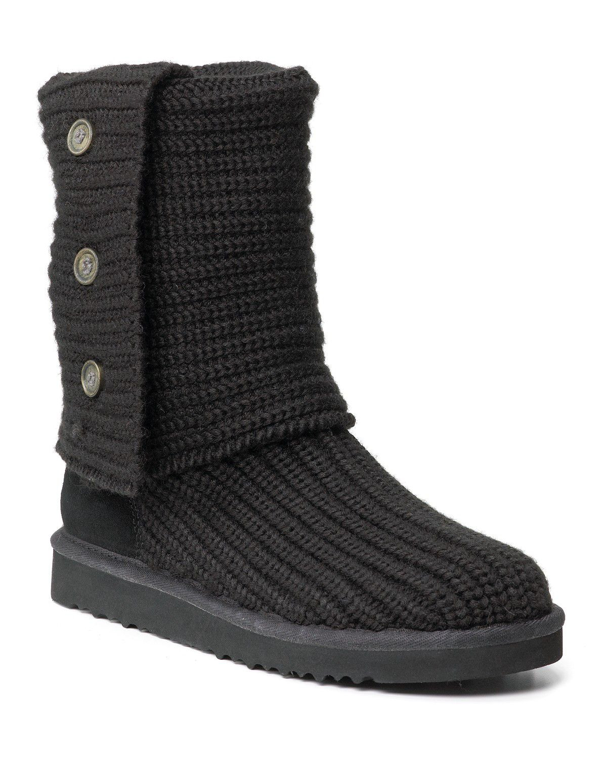 "Knit Boots Lovely Ugg Classic ""cardy"" Knit Boots In Black Of Luxury 48 Photos Knit Boots"