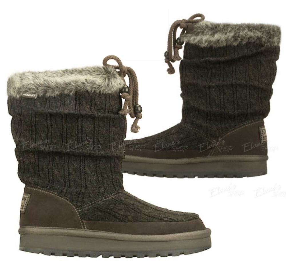 Knit Boots New Womens Skechers Ccl Boots Knit Suede Faux Fur Of Luxury 48 Photos Knit Boots