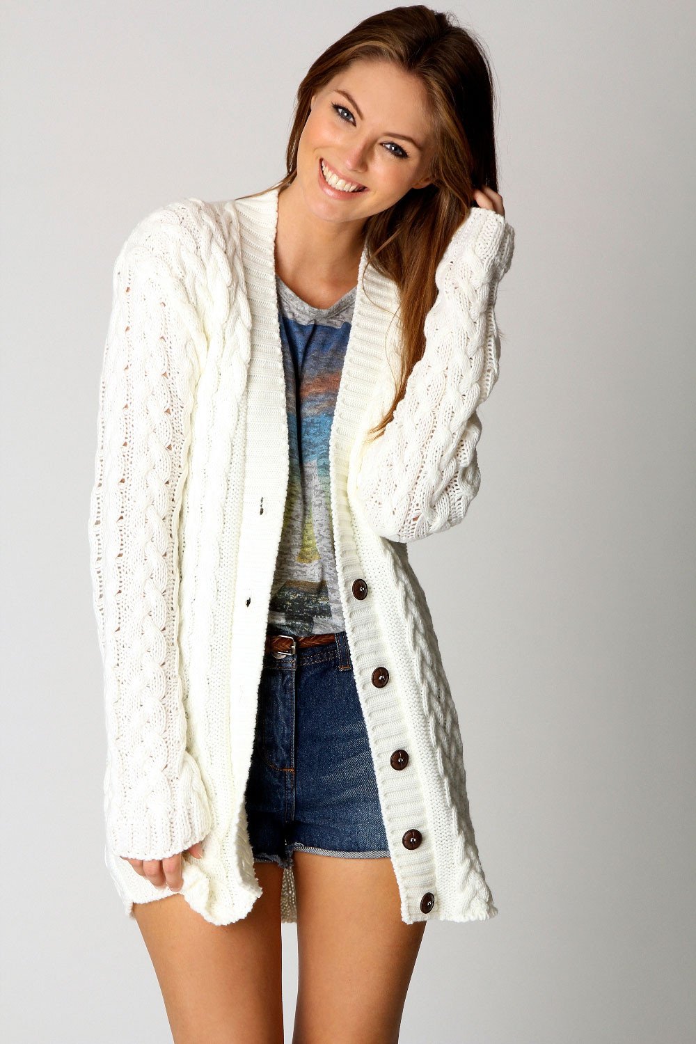 Knit Cardigan Beautiful Boohoo Womens La S Lucy Cable Knit Long Sleeve Hip Of Delightful 41 Ideas Knit Cardigan