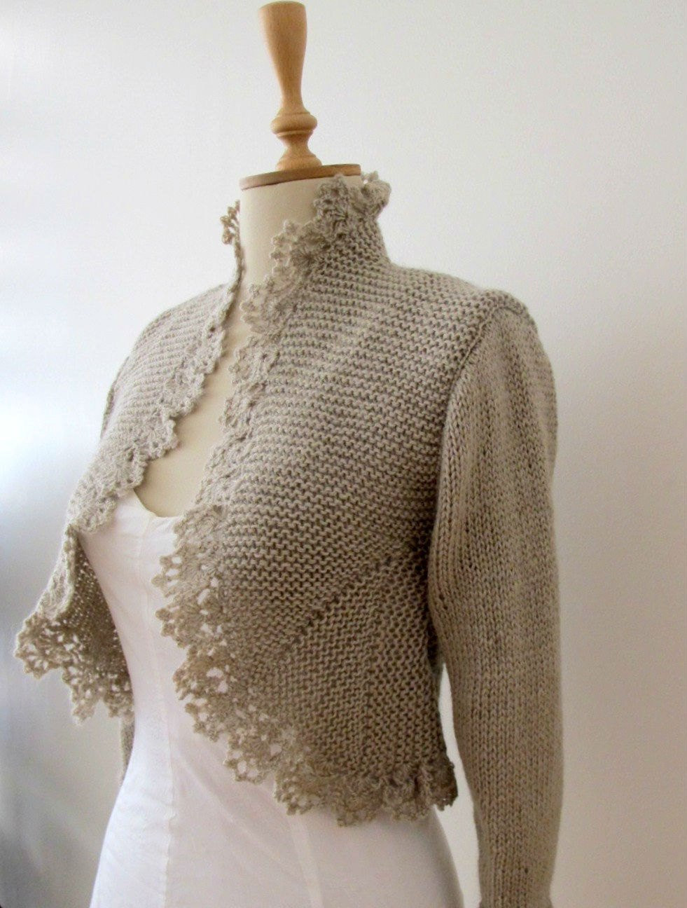 hand knit sweater knitting knitted