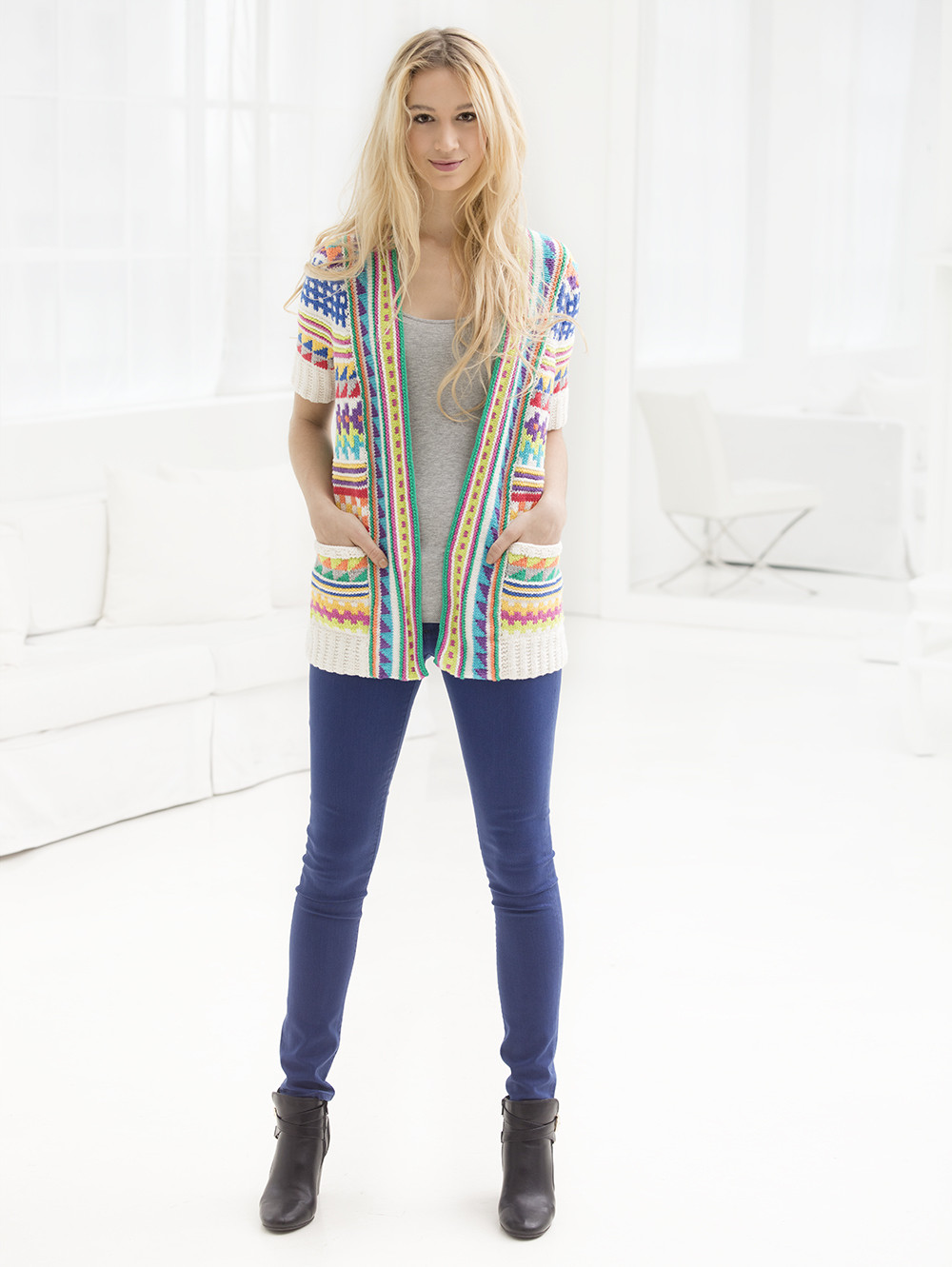 Breezy Tribal Knit Cardigan