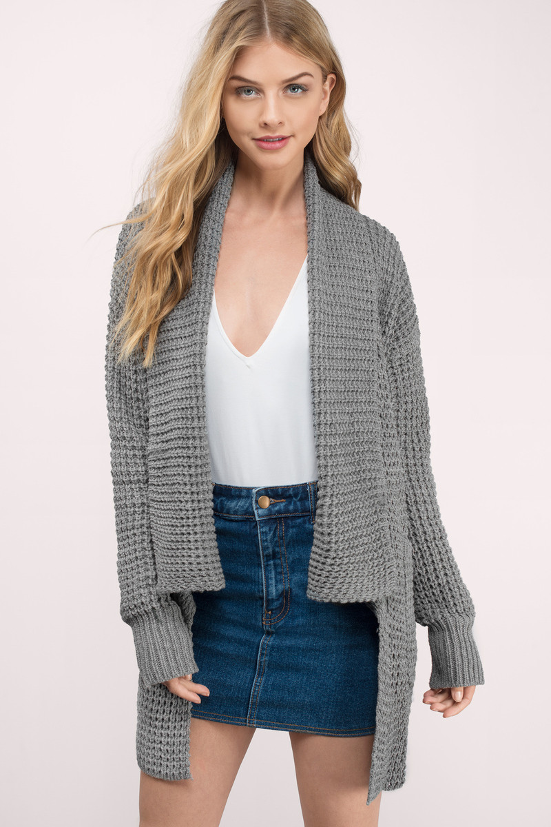Trendy Grey Cardigan Knitted Cardigan Grey Cardigan