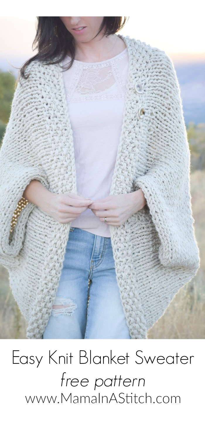 Knit Cardigan Lovely Easy Knit Blanket Sweater Pattern – Mama In A Stitch Of Delightful 41 Ideas Knit Cardigan