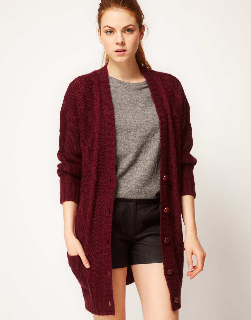 Oversized Cardigan Knit Long Sweater Jacket