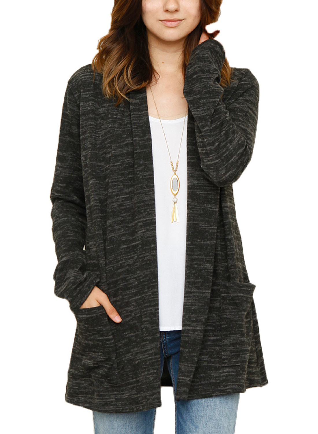 Knit Cardigan New Women S Long Sleeve solid Color Open Front Knit Cardigan Of Delightful 41 Ideas Knit Cardigan