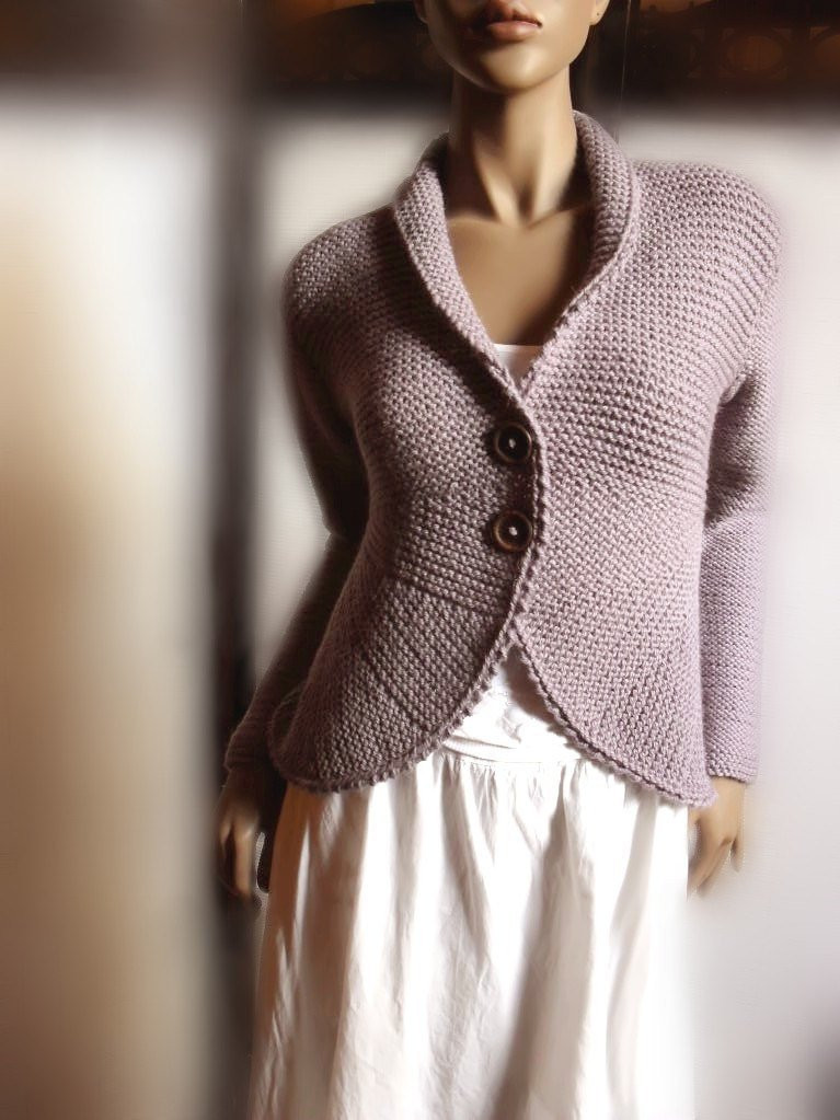 Knit Cardigan New Womens Hand Knit Sweater Jacket Purple Grey Wool Sweater Of Delightful 41 Ideas Knit Cardigan