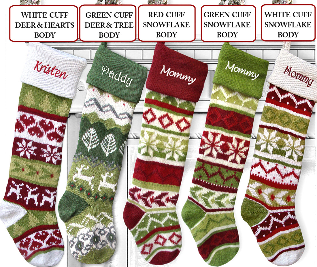 Knit Christmas Stockings Beautiful Knit Christmas Stockings Red Green and Long Of Fresh 41 Photos Knit Christmas Stockings
