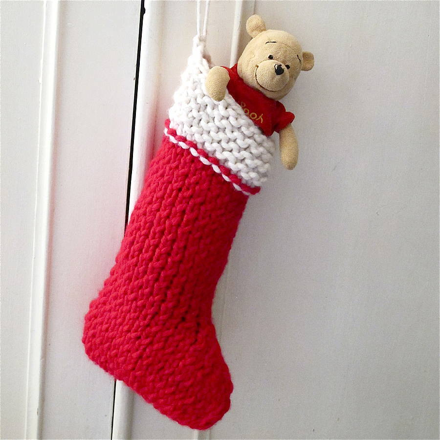 christmas stocking knit your own kit by edamay