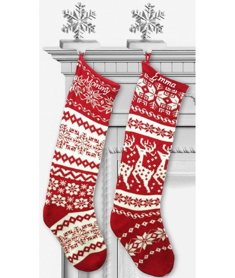 Knit Christmas Stockings Fresh Knit Christmas Stockings Red White Renindeer or by Eugenie2 Of Fresh 41 Photos Knit Christmas Stockings