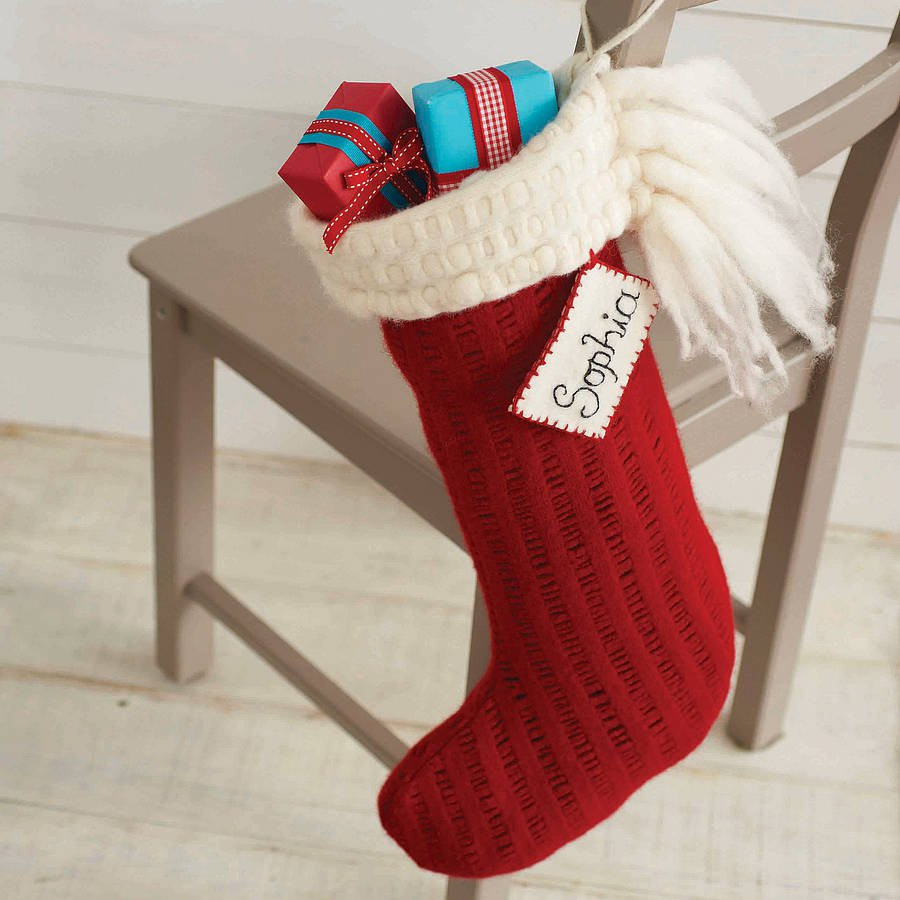 personalised handmade christmas stocking by andrea dunne
