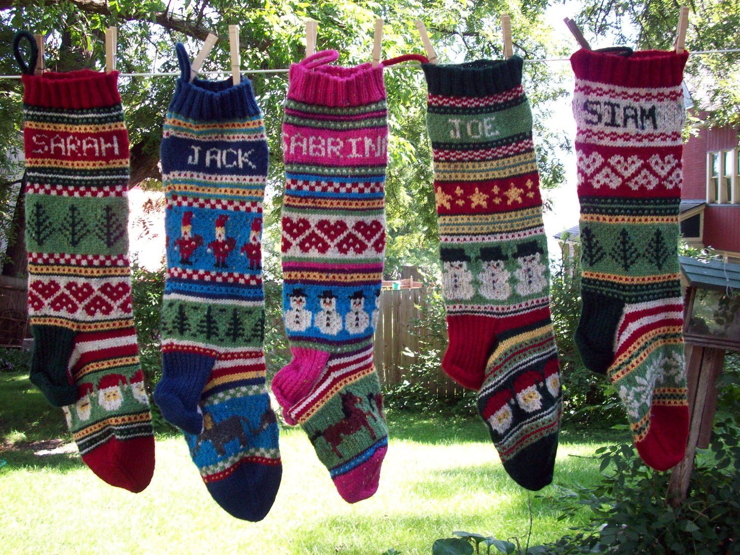 Knit Christmas Stockings Lovely Personalized Hand Knitted Fair isle Christmas Stocking for Of Fresh 41 Photos Knit Christmas Stockings