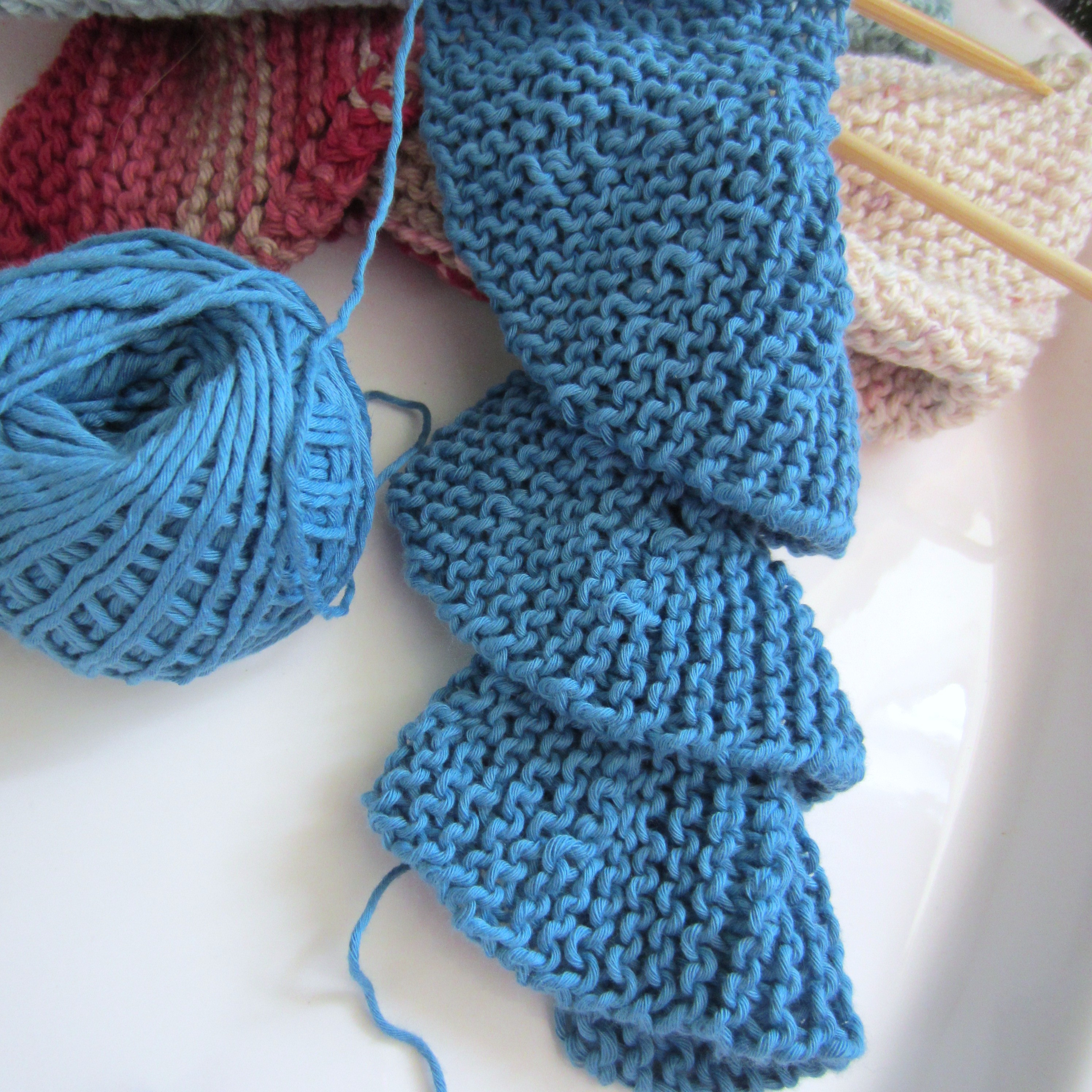 Trying My Hand At Short Row Knitting Spiral Scarf