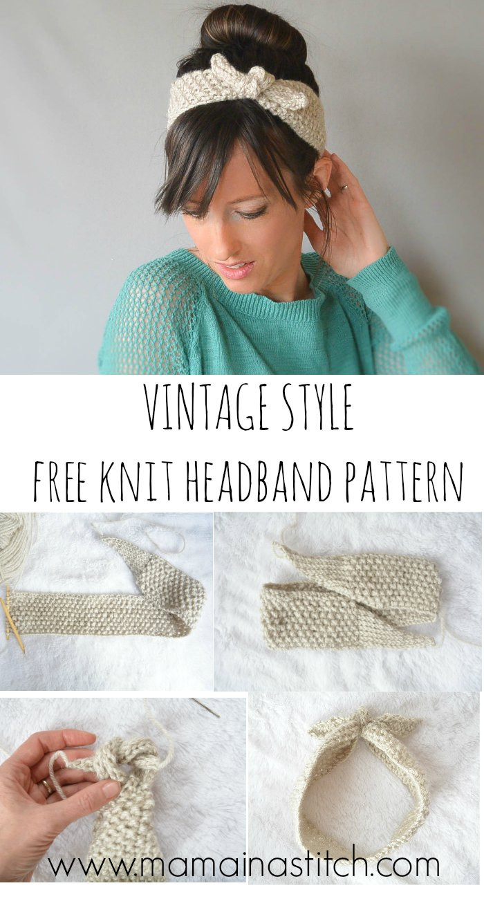 Knit Crochet Unique Vintage Knit Tie Headband Pattern – Mama In A Stitch Of New 49 Pictures Knit Crochet