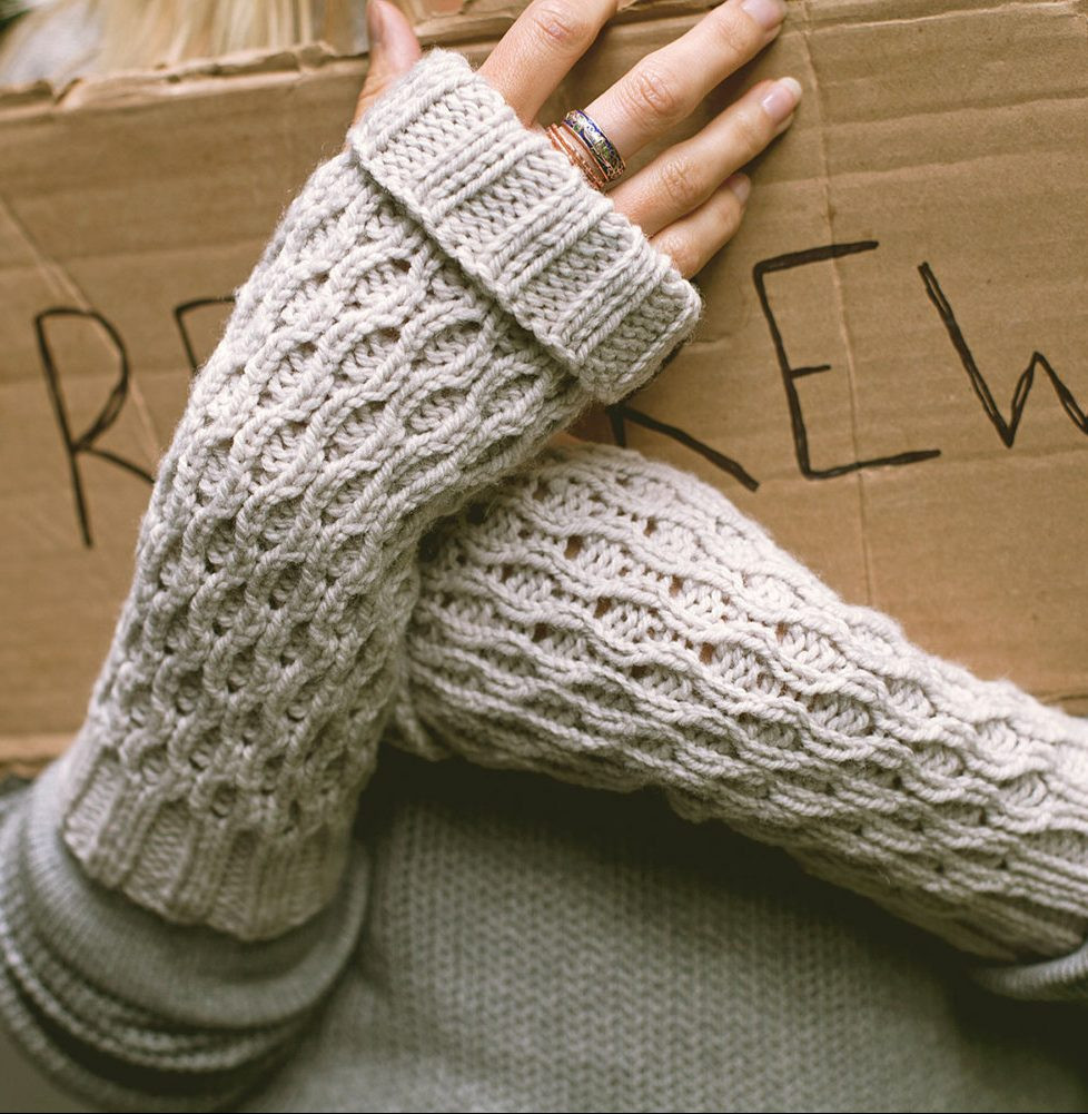 Easy Fingerless Mitts Knitting Patterns