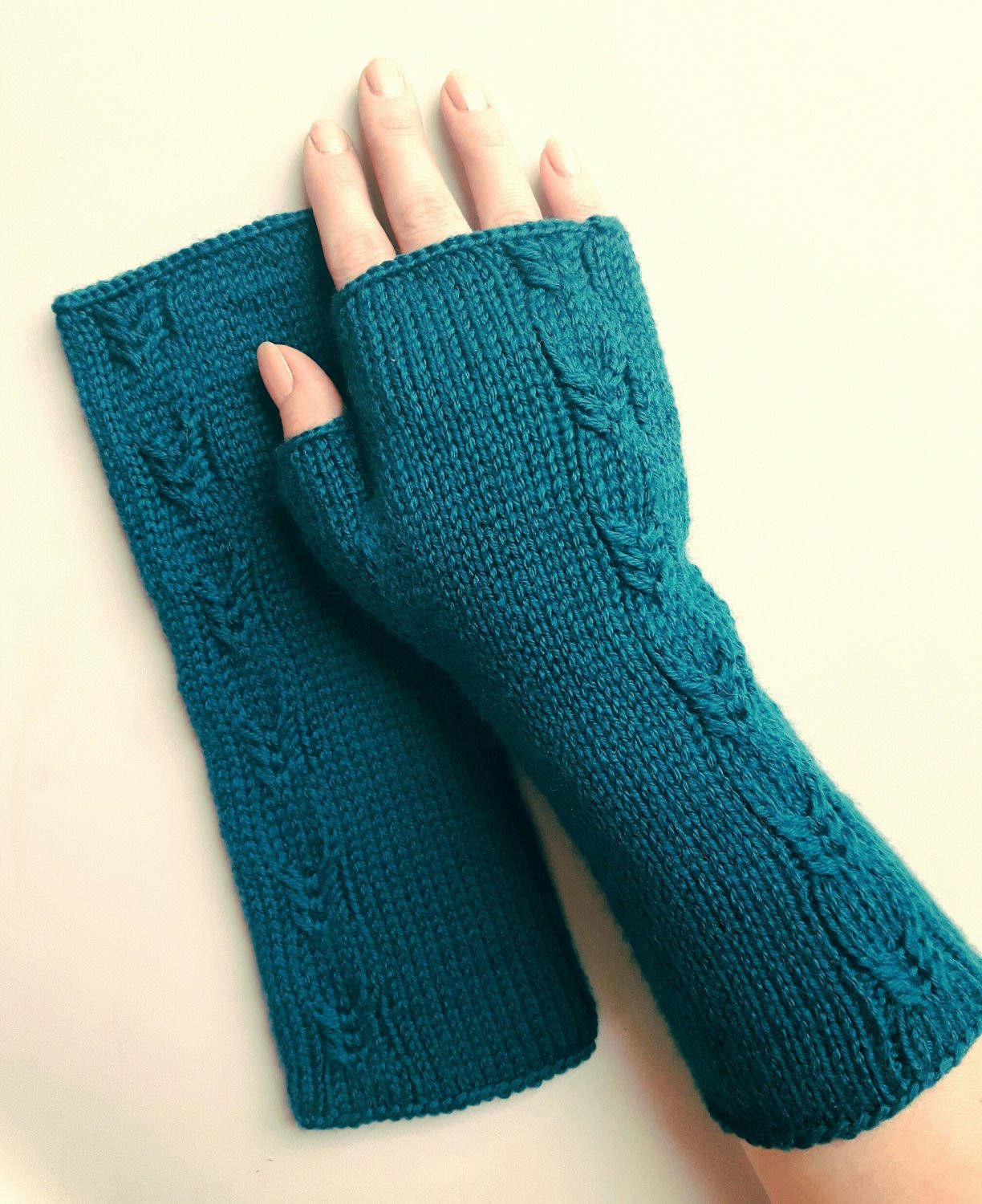 Knit Fingerless Gloves Inspirational Hand Knit Fingerless Gloves Teal Womens Gloves Warm Armwarmers Of Gorgeous 47 Pics Knit Fingerless Gloves