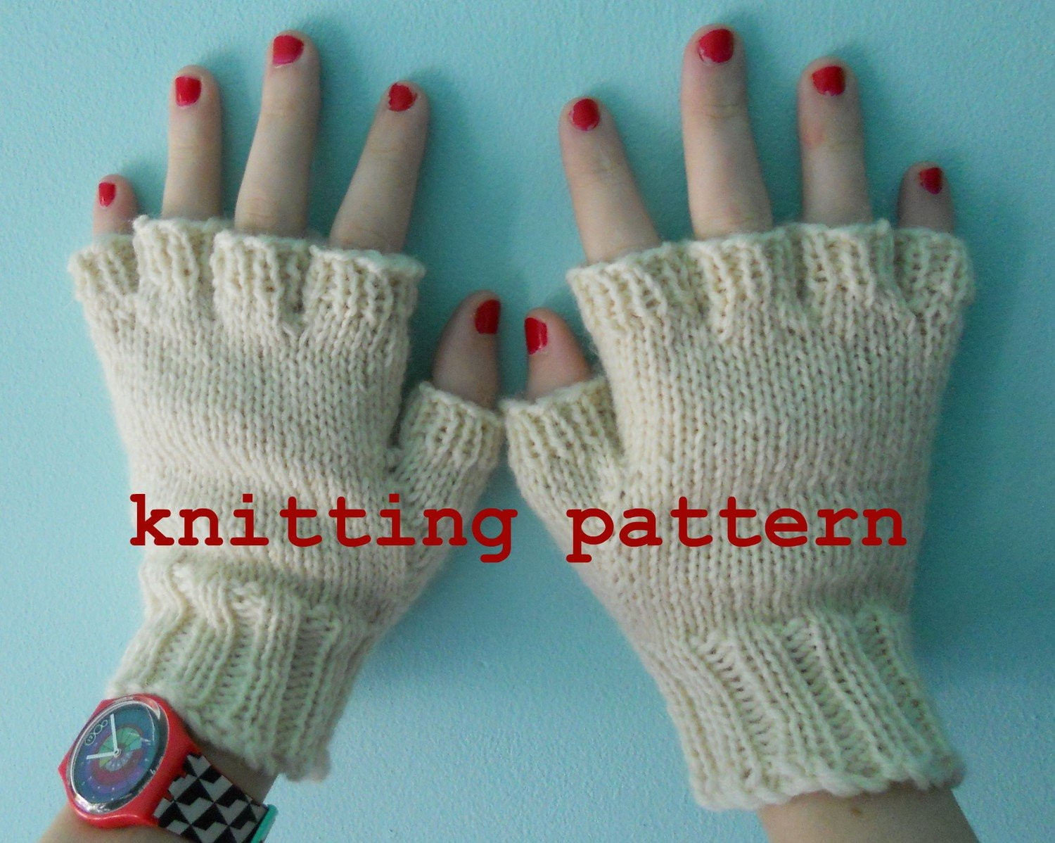 Knitting Pattern PDF Fingerless Gloves for Men and Women
