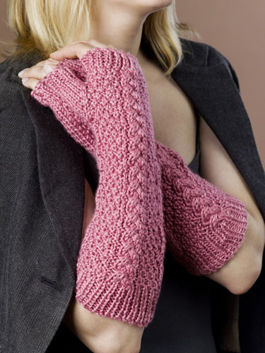 FINGERLESS GLOVES KNITTED PATTERN FREE PATTERNS