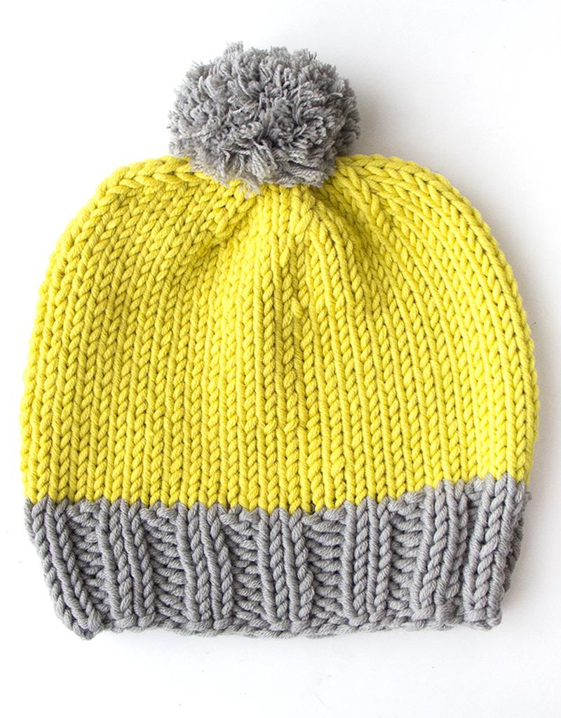 Knitting pattern How to make a bobble hat Mollie Makes