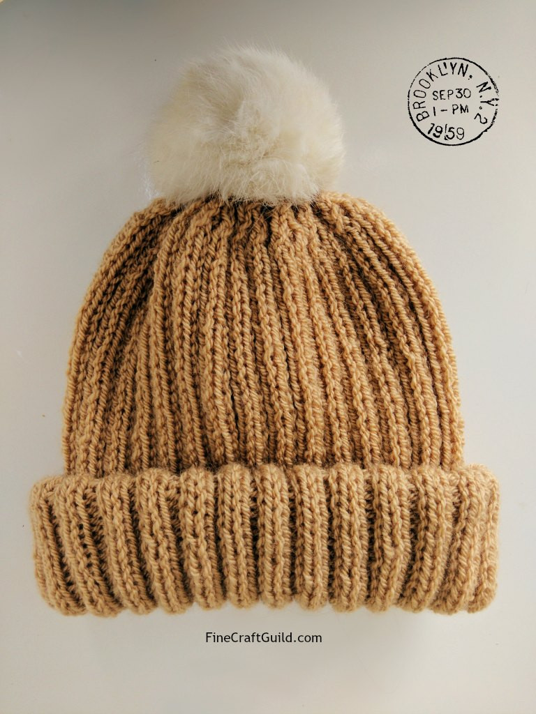 Knit Hat Patterns Inspirational Fur Pompom Beanie Hat Knitting Pattern Of Gorgeous 49 Pictures Knit Hat Patterns