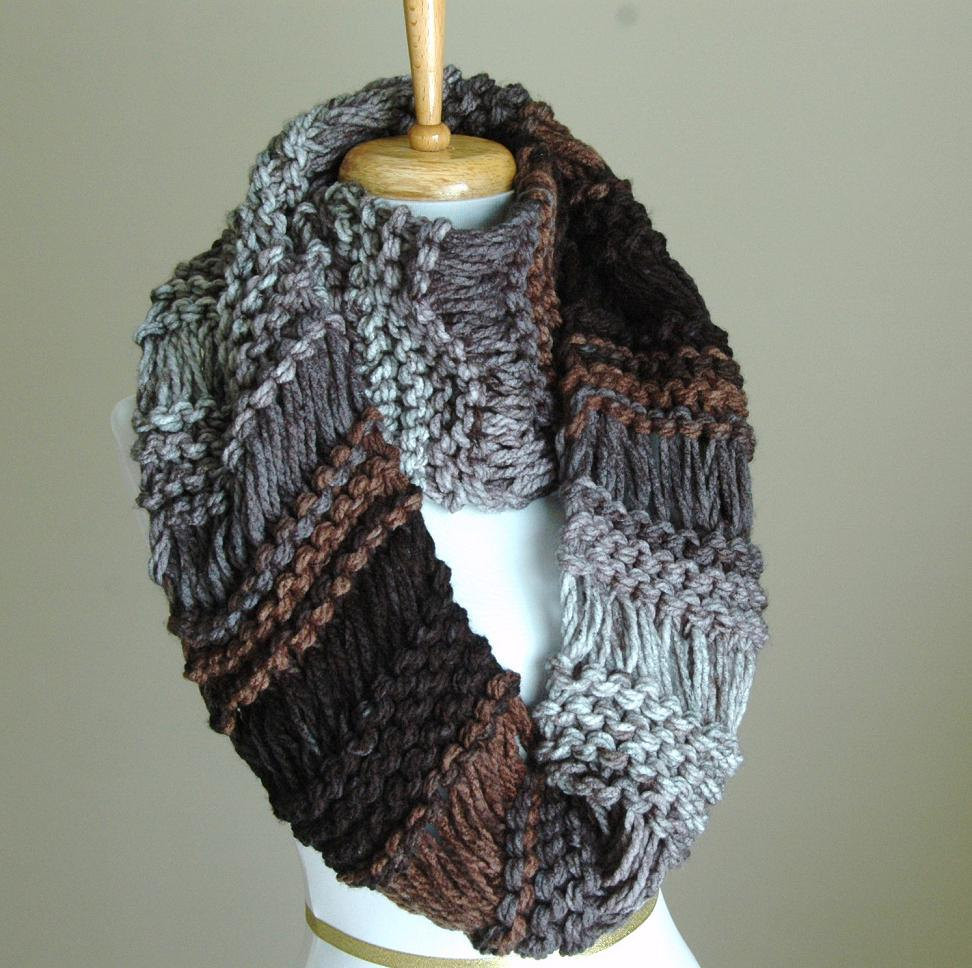 Knit Infinity Scarf Elegant Black Gray Brown Knit Infinity Scarf Chunky Scarf Hand Knit Of Wonderful 49 Photos Knit Infinity Scarf