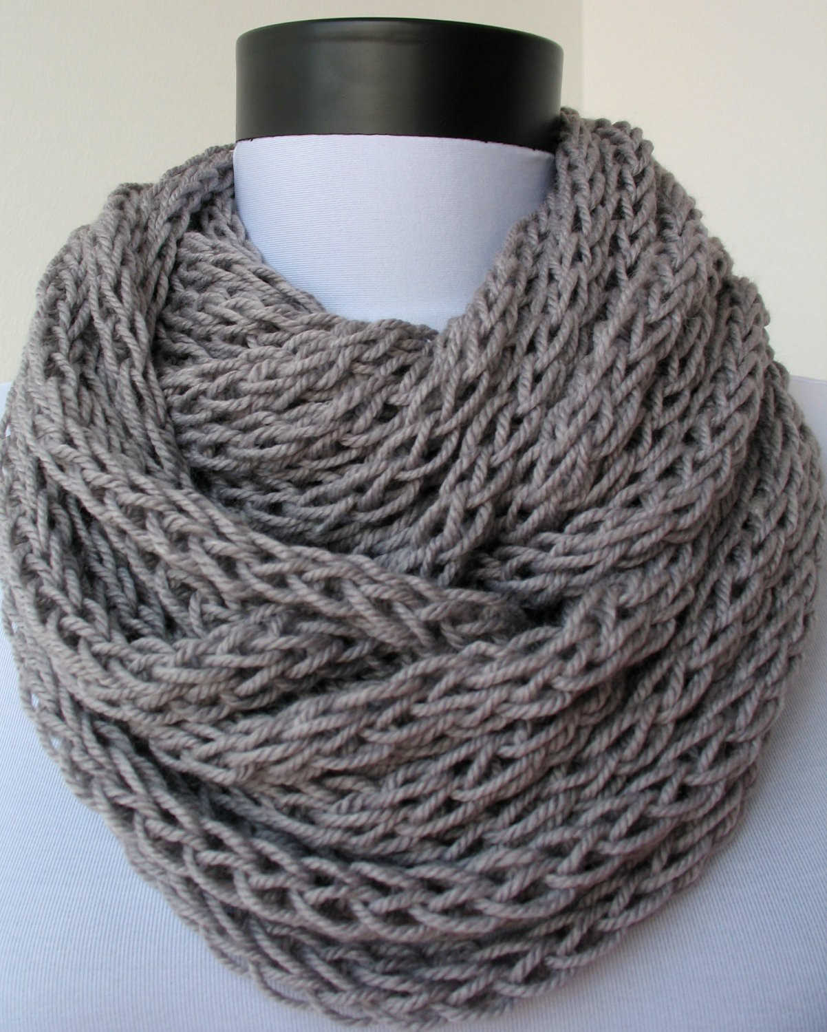 Knit Infinity Scarf Luxury Knitted Scarf Of Wonderful 49 Photos Knit Infinity Scarf