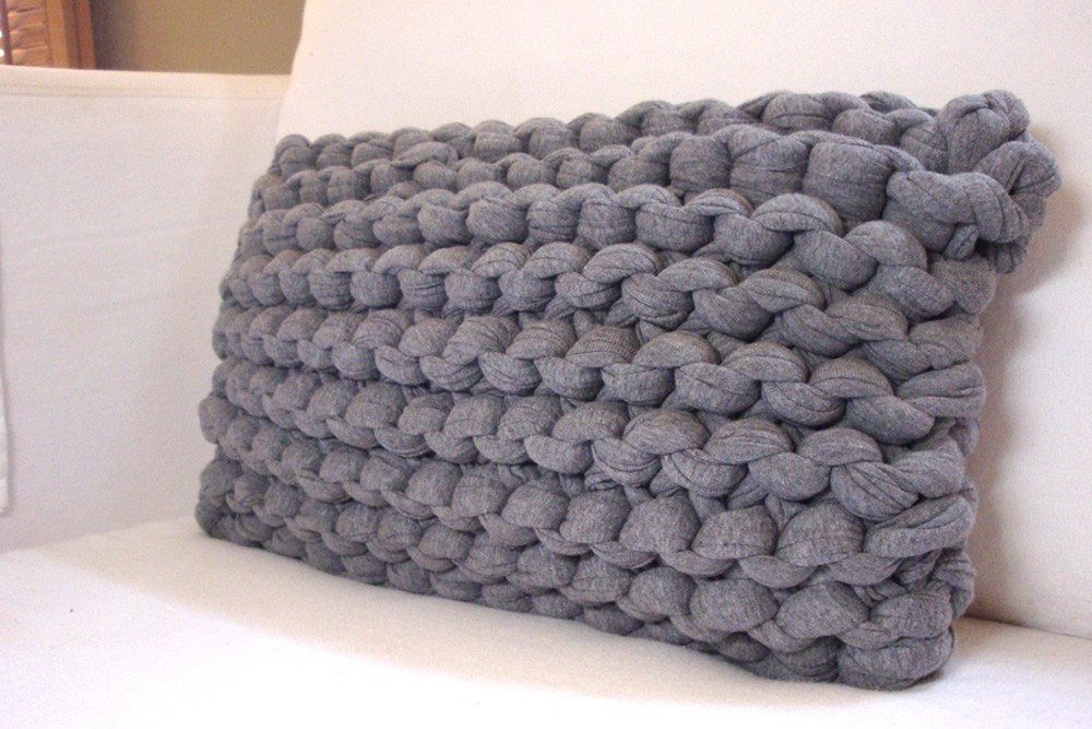 Knit Pillow Awesome Knit Lumbar Pillow Super Chunky Heather Gray Of Charming 46 Pics Knit Pillow