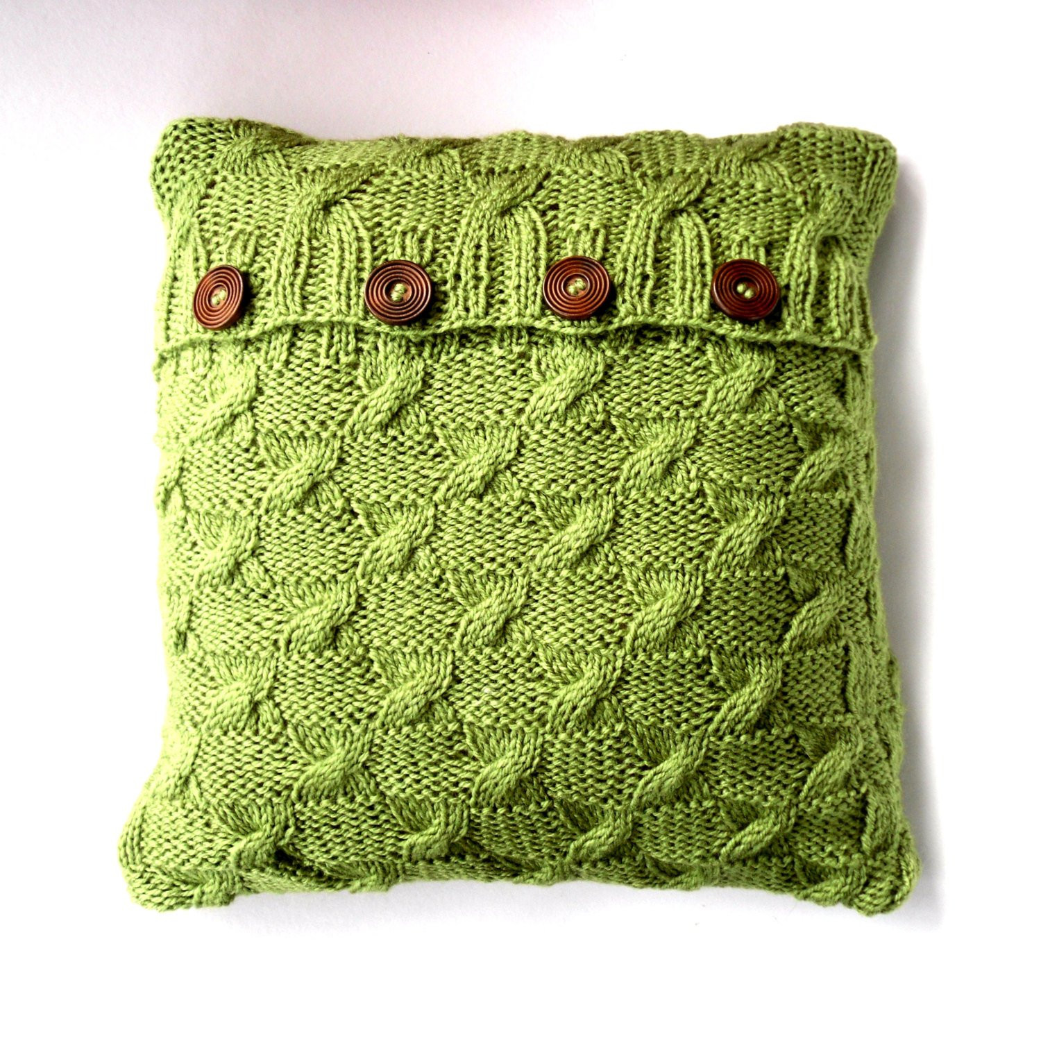 Knit Pillow Best Of Green Cable Knit Cushion Cover Throw Pillow by Of Charming 46 Pics Knit Pillow