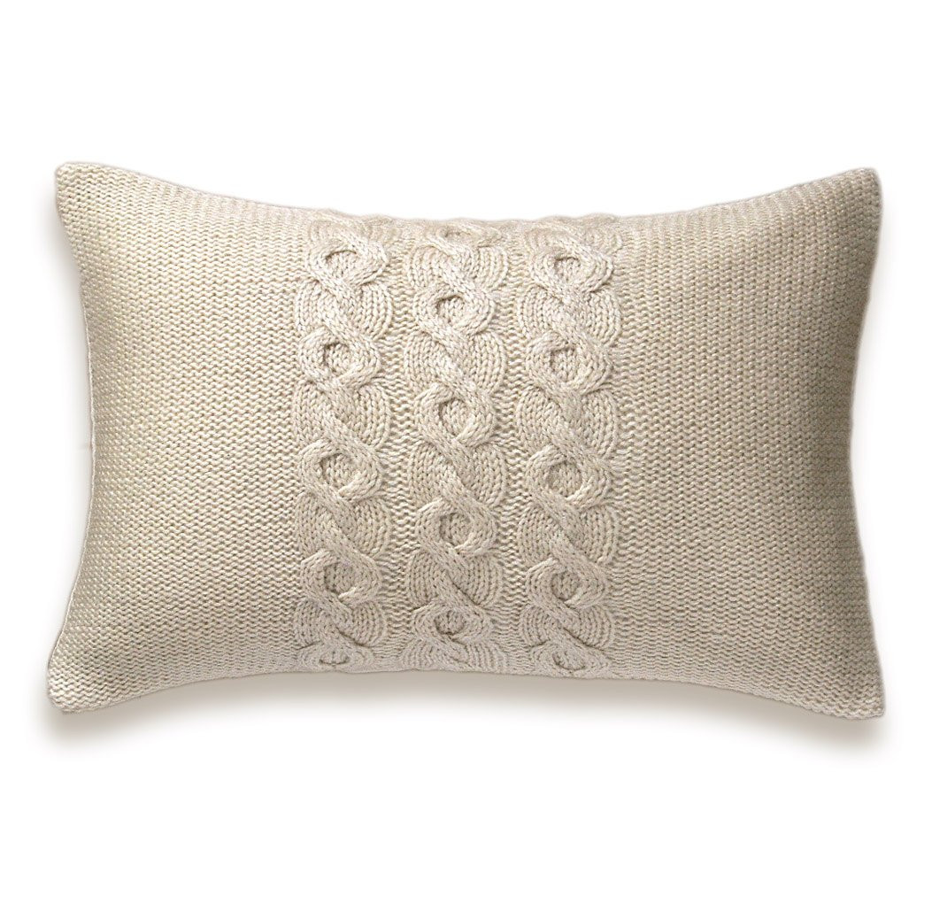 Knit Pillow Unique Decorative Cable Knit Trio Pillow Cover In Ivory 12×18 Inch Of Charming 46 Pics Knit Pillow